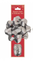 Jumbo silver bow and ribbon set (Code 3798)